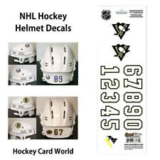 (HCW) Pittsburgh Penguins NHL Hockey Helmet Decals Sticker Sheet *FREE SHIP