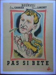Poster Mounted Pas Si Beast Suzy Carrier Bourvil Andre Bell 60x80cm