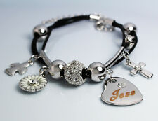 Genuine Braided Leather Charm Bracelet With Name - JESS - Gifts for her