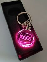 SEAT leon ibiza fr Car Keyring Crystal LED Light Gift Pouch Keychains