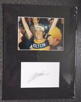 "EDDY MERCKX - 5 TIMES TOUR DE FRANCE WINNER - SIGNED MOUNTED DISPLAY 14""x 11"""