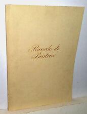 Negrotto Cambiaso Agostino  Ricordo di Beatrice  Roma 1977