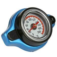 1.1 Bar Car Alloy Universal Blue Thermostatic Radiator Cap+Temperature Gauge MU