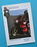 Original Vintage 1993 BMW Motorcycle Brochure K1100LT K1100RS Dealer Stamp