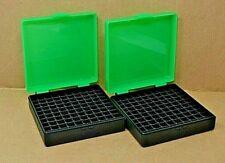 9 mm / 380 - (2) x 100 round ammo case / box (Zombie / Black) Berry mfg 9 mm New
