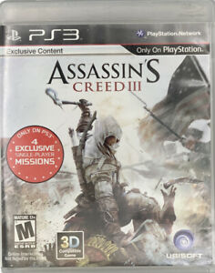Assassin's Creed III Exclusive Content (Sony PlayStation 3 PS3)