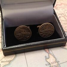 R.M.S QUEEN MARY CUFFLINKS COLLECTABLE CUFF LINKS BNIB