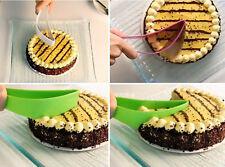 Hot Cake Pie Cute Sheet Guide Cutter Server Bread Slice Knife Kitchen Gadget