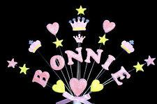 Princess crown custom birthday, christening  cake topper, personalised