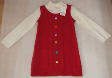 NEW Gymboree Cozy Cutie Red Holiday Christmas Sweater Dress Jumper Size 4 NWT