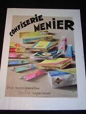 "Antique ADVERTISING -""Confiserie Menier"" c1932 French ""L'Illustration"" Magazine"