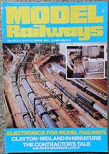 MODEL RAILWAYS -  March 1983 vol 12 #699 clayton-midland in miniature