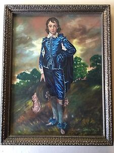 """Thomas Gainsborough """"The Blue Boy"""" Reproduction Acrylic Painting by Evelyn Marie"""