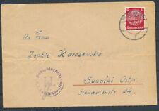 2e W.O., DEELS VOORGEDRUKTE BRIEF (12 Pf. FRANK.) UIT KONZENTRATIONSLAGER  ZL173