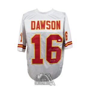 Len Dawson HOF Autographed Kansas City Chiefs Custom Football Jersey JSA (B)