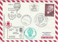 Austria 1973 Balloon Post Ferdinand Hanusch Slogan Cancel+Stamps Cover Ref 28708