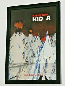 RADIOHEAD Framed A4 2000 `kid A` ALBUM original band rare ART poster
