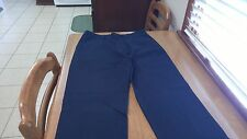 Nautica Flat Front Mens Casual Pants Blue 34/34 FREE SHIPPING