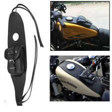 For Harley Sportster Bag XL 883 1200 Black Leather Iron Tank Cover Panel Bag