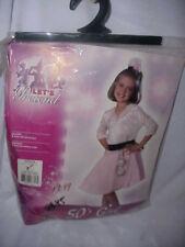 Lets Pretend 50'S Girl Pink Rubies Halloween Costume Sz Medium 8-10 Dress Dice