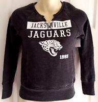 JACKSONVILLE JAGUARS Girls Sweatshirt Medium 7/8 Sparkle Distressed Logo Black