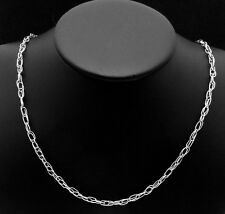 Vintage Pedro Castillo Taxco Mexico Mexican Sterling Silver Chain Necklace 22835