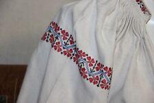 Vintage Ukrainian embroidered  homespun linen  shirt Poltava reg- E11