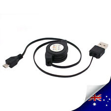Retractable USB Micro 5 Pin Cable For Samsung Galaxy HTC Blackberry GPS - NEW