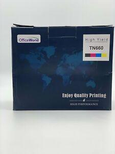 Open Box NEW Office World High Yield TN660 Toner 4 pack