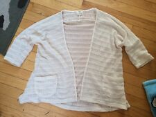 New urban outfitters women's off white sweater cardigan jacket m medium