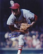 RAY WASHBURN ST. LOUIS CARDINALS WS CHAMPS ACTION SIGNED 8x10