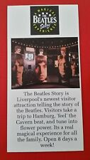Beatles - 1990s UK Tourist Advertisment Card featuring Beatles Story - John Paul