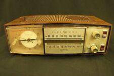 Vintage GE AM/FM General Electric Nutmeg Radio c595E w Wood Grain Finish WORKS