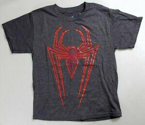 Spider Man Logo - Youth/Kids Gray/Red T-Shirt Small - Marvel/Disney