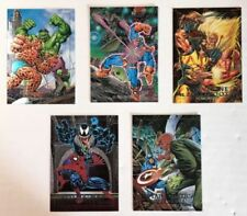 1992 Marvel Masterpieces Complete 5 Card Greatest Battles Chase Set Nm/Mint