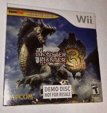 Monster Hunter 3 Tri - Nintendo Wii - DEMO DISK - Game Stop - SEALED NEW!