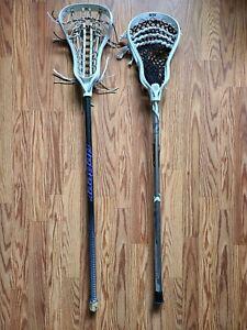 2 Lacrosse Sticks STX Stallion deBeer 6000
