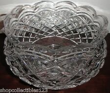 Waterford Crystal Scalloped Special Centerpiece Large Footed Crystal Bowl (NEW)