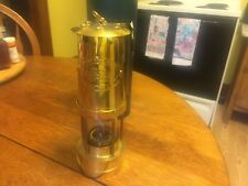 British coal Miner's Lantern Miners lamp Made In  Wales UK Brass in Box