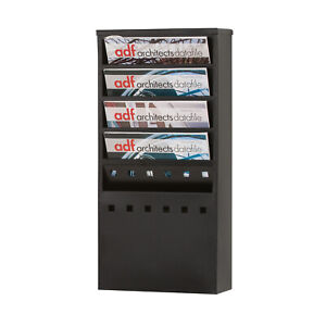 Steel Wall Mounted Literature Dispensers - 5 x A4