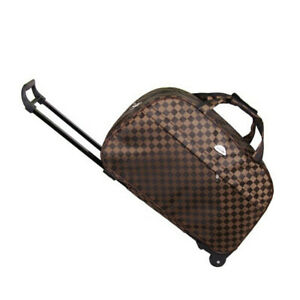 """24"""" Rolling Wheeled Bag Travel Carry On Luggage Waterproof Tote Trolley Suitcase"""