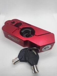 Handlebar Throttle Grip lock Motorbike Motorcycle Security Lock RED - Uk Seller