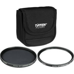 New Tiffen 62mm Digital Twin Pack Filter Kit Ultra Clear & Circular Polarizer