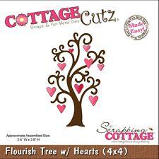 COTTAGE CUTZ FLOURISH TREE WITH HEARTS DIE CUTTING DIES - NEW UNIVERSAL FIT