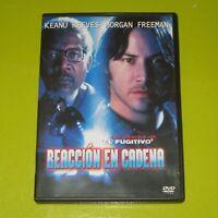 DVD.- REACCION EN CADENA - KEANU REEVES - MORGAN FREEMAN