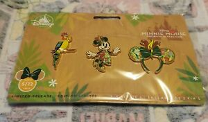 Disney Pins Minnie Mouse The Main Attraction Enchanted Tiki Room Pin Set