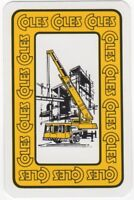 Playing Cards 1 Single Card Old COLES MOBILE CRANE Construction Advertising 2