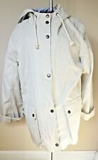 GAP Chino Khaki Utility Jacket, Women's, sz L Hooded Beige Spring Coat w buttons