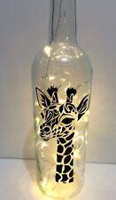 Led giraffe bottle  choice of 3 different giraffes
