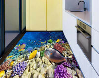 3D Coral and fish in the Red Sea Waterproof Kitchen Floor Sticker Wall Murals